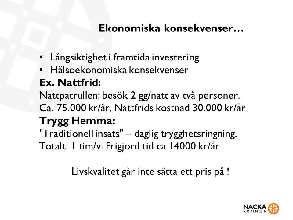 Ekonomiska konsekvenser…