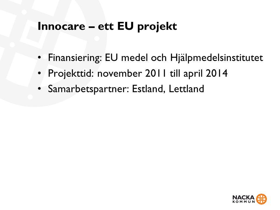 Innocare – ett EU projekt