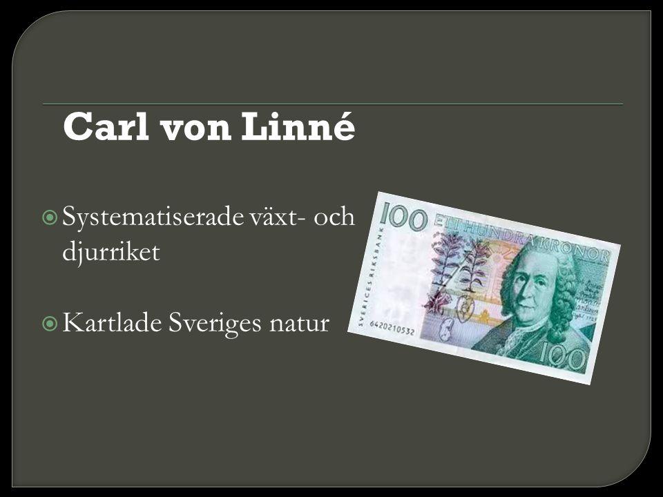 Carl von Linné Systematiserade växt- och djurriket