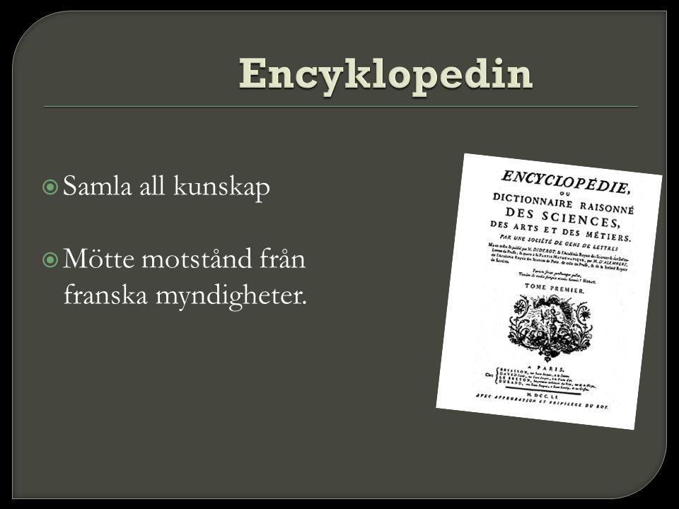 Encyklopedin Samla all kunskap