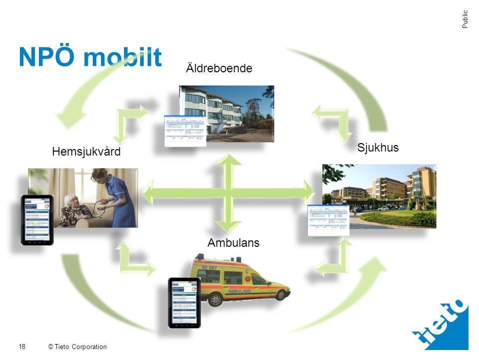 NPÖ mobilt Äldreboende Sjukhus Hemsjukvård Ambulans