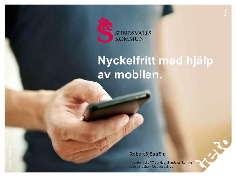 Nyckelfritt med hjälp av mobilen.