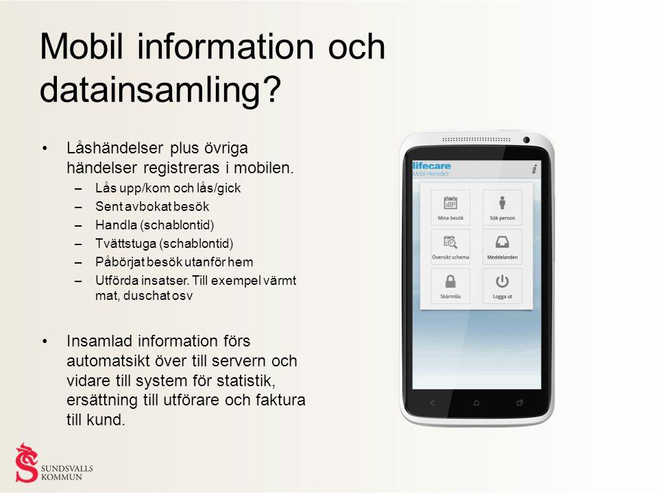 Mobil information och datainsamling