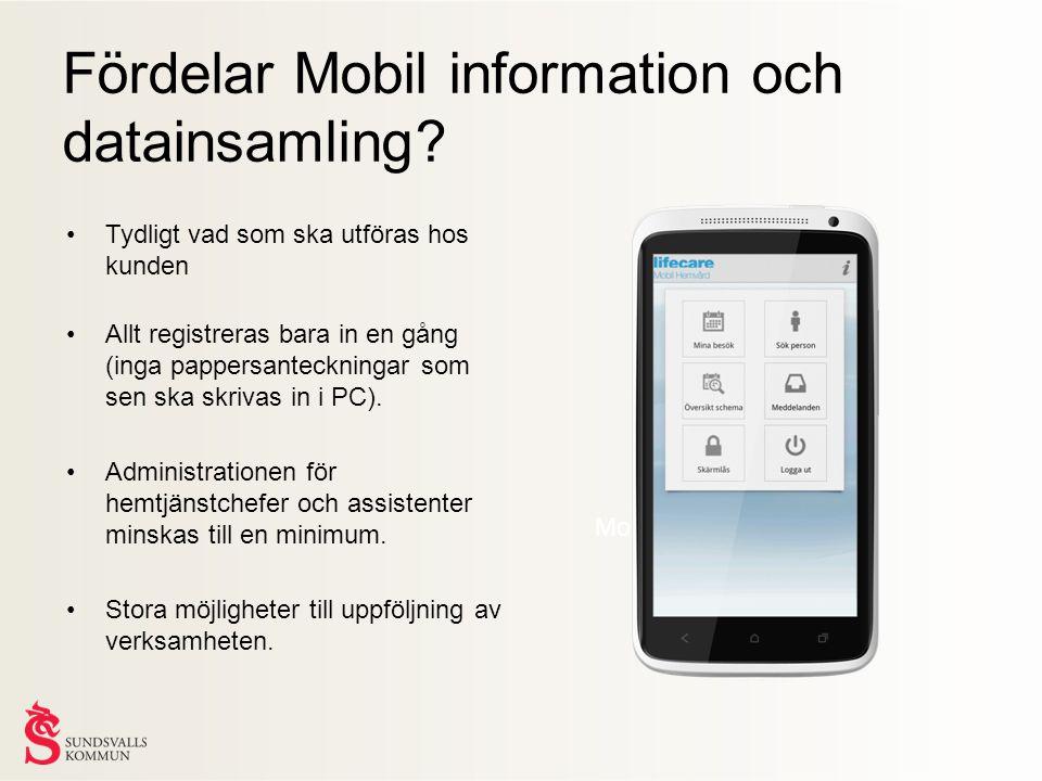 Fördelar Mobil information och datainsamling