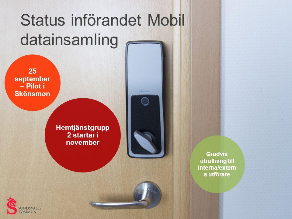 Status införandet Mobil datainsamling