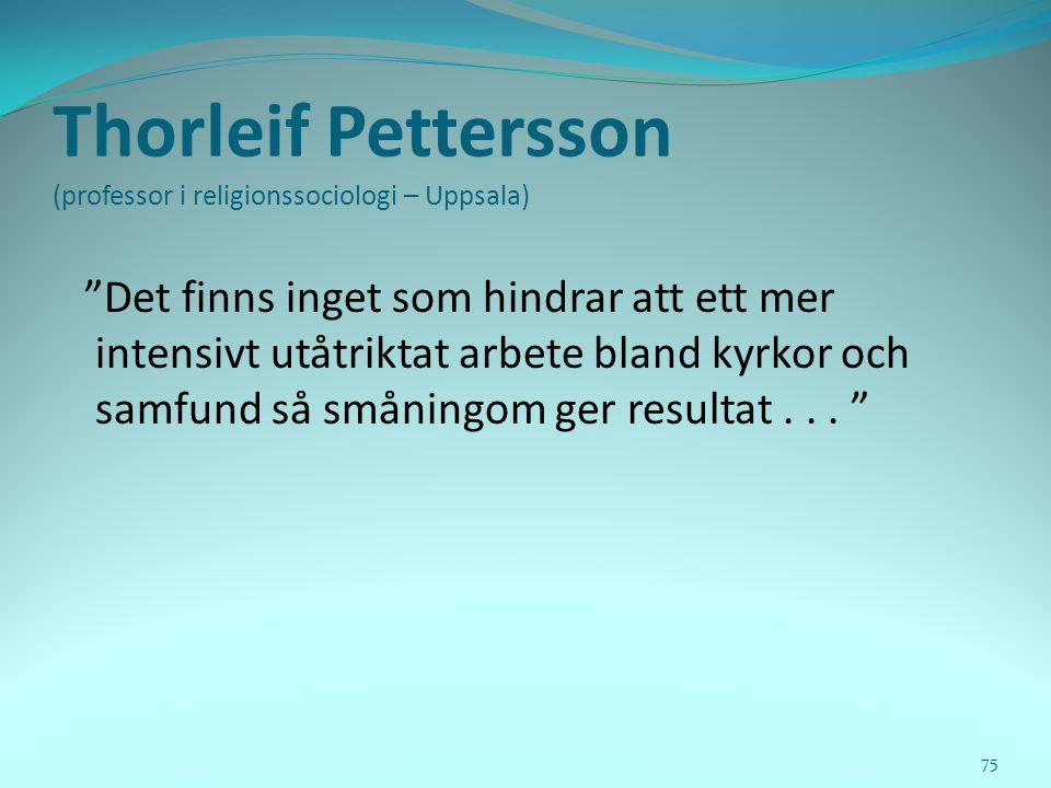 Thorleif Pettersson (professor i religionssociologi – Uppsala)