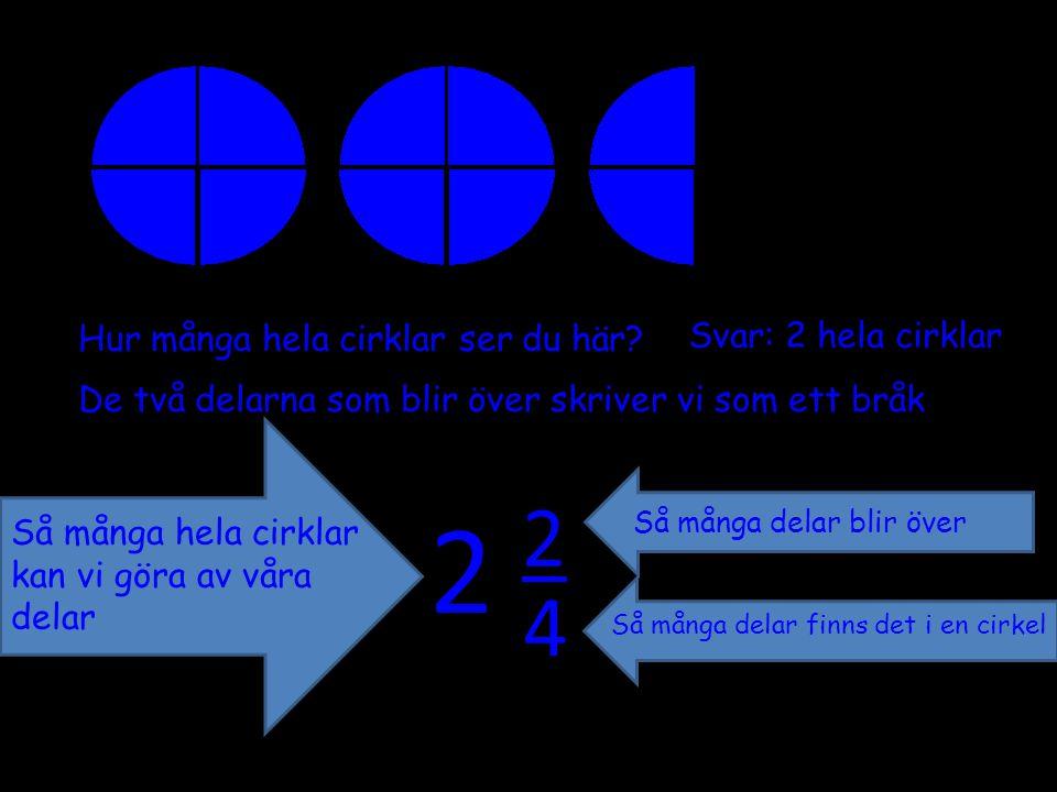 2 2 4 Svar: 2 hela cirklar Hur många hela cirklar ser du här