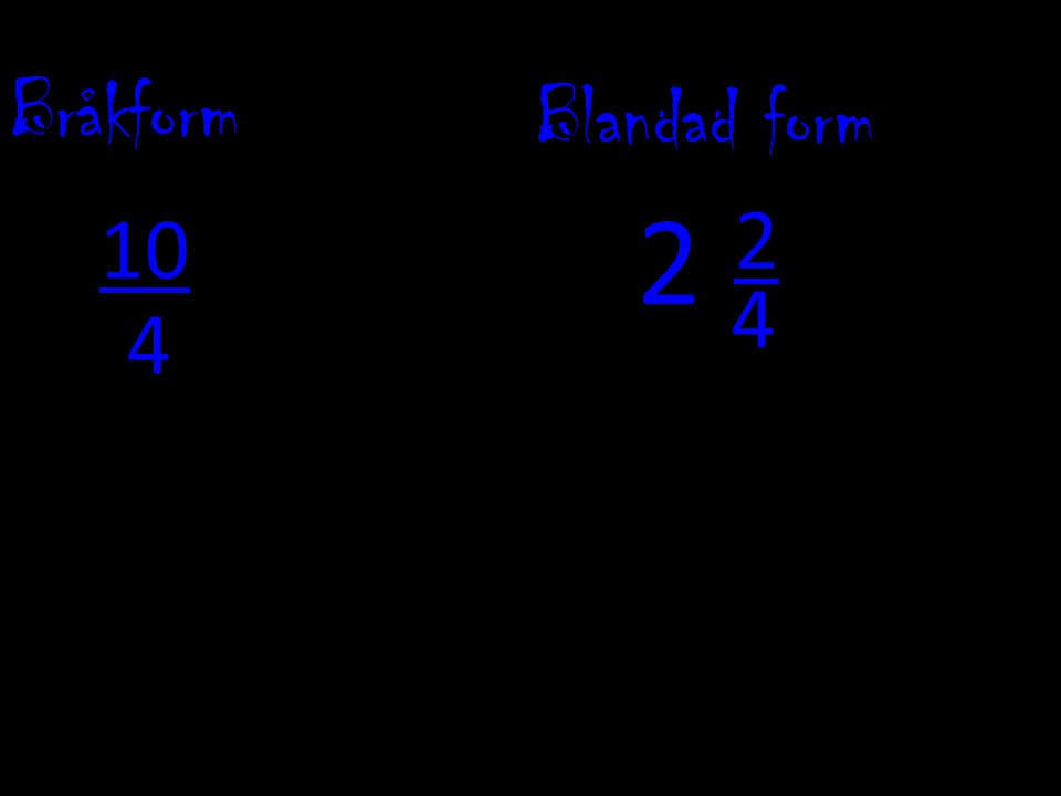 Bråkform Blandad form 4 2 10 4