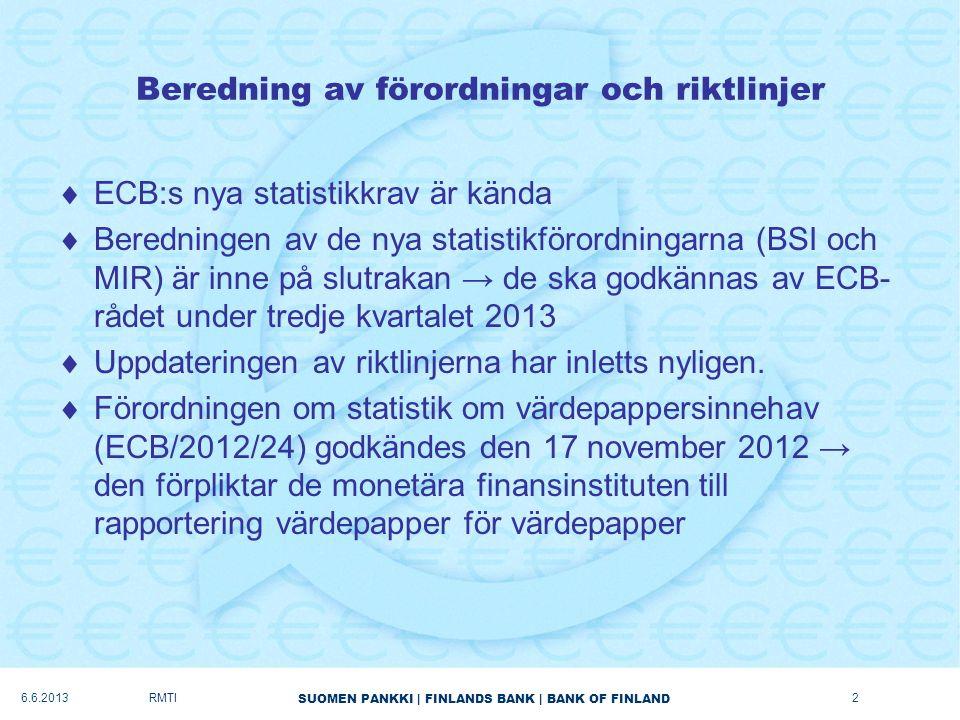 Beredning av förordningar och riktlinjer
