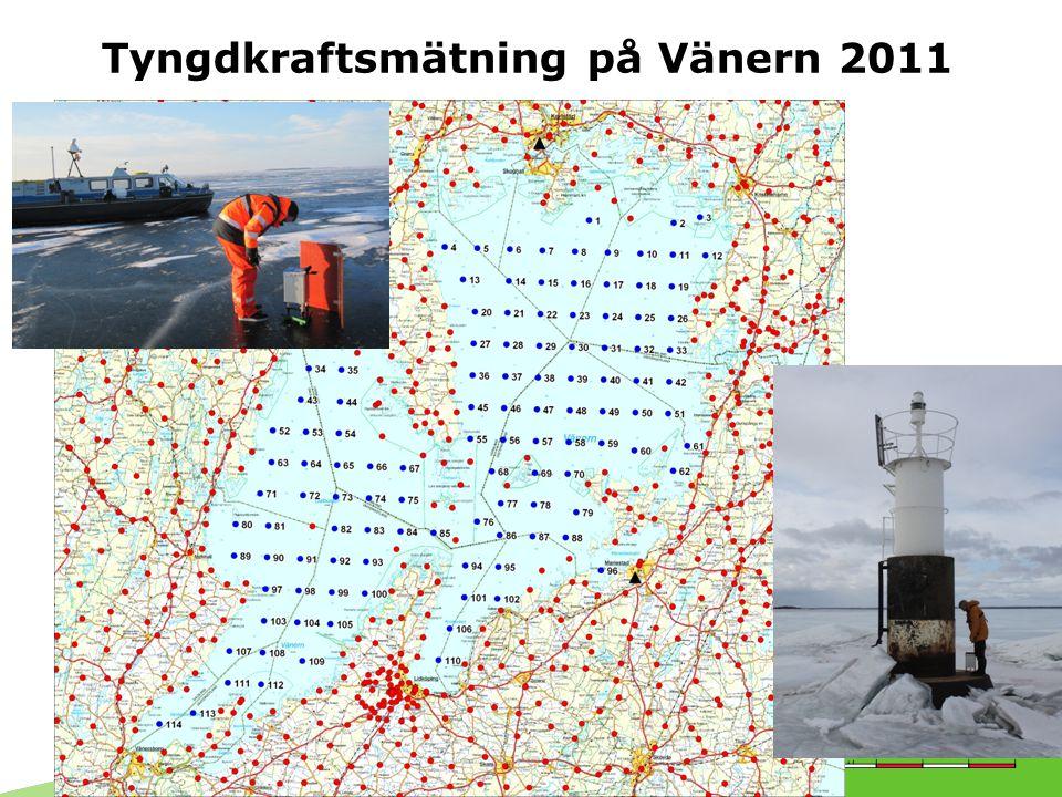 Tyngdkraftsmätning på Vänern 2011