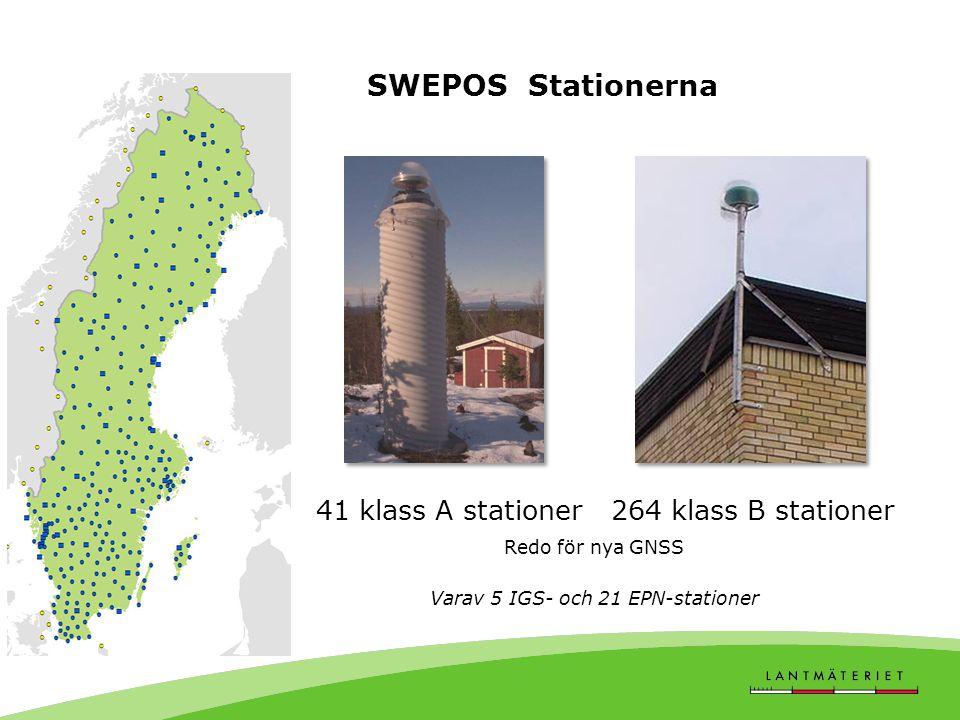 Varav 5 IGS- och 21 EPN-stationer