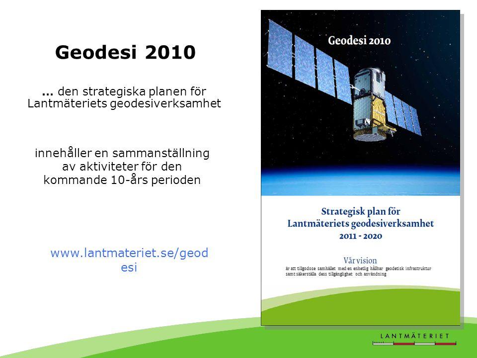 … den strategiska planen för Lantmäteriets geodesiverksamhet
