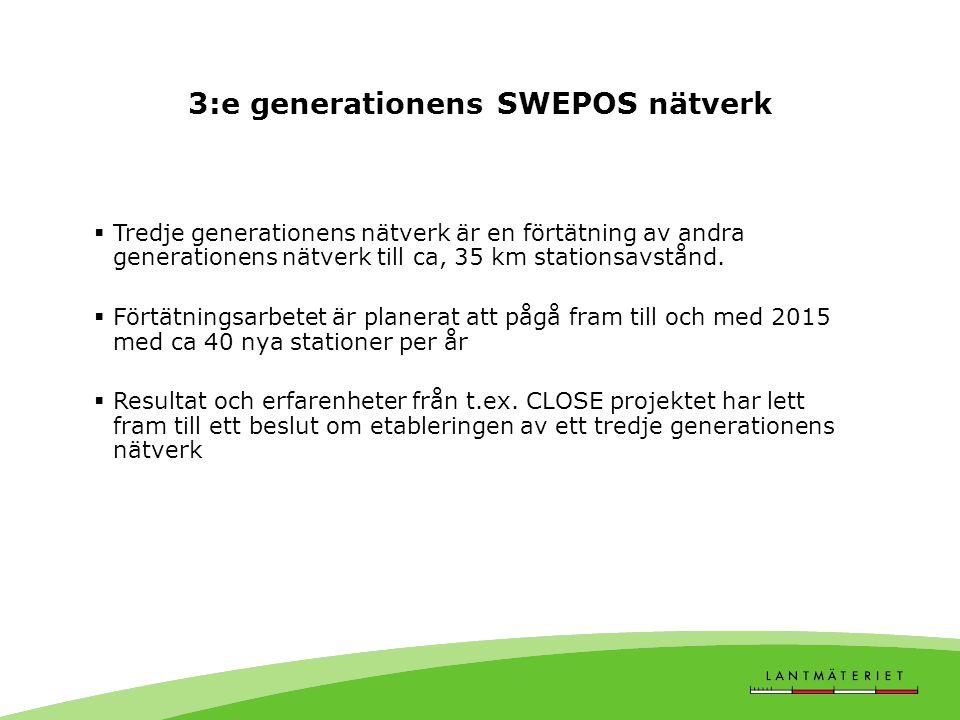 3:e generationens SWEPOS nätverk