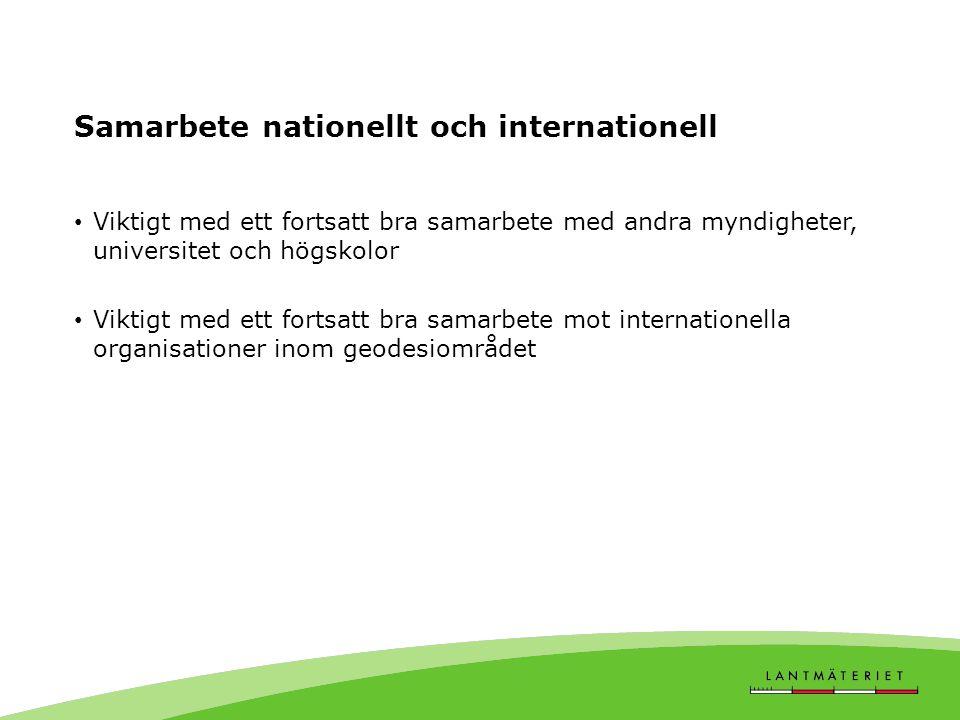 Samarbete nationellt och internationell
