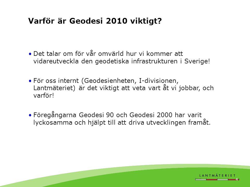 Varför är Geodesi 2010 viktigt