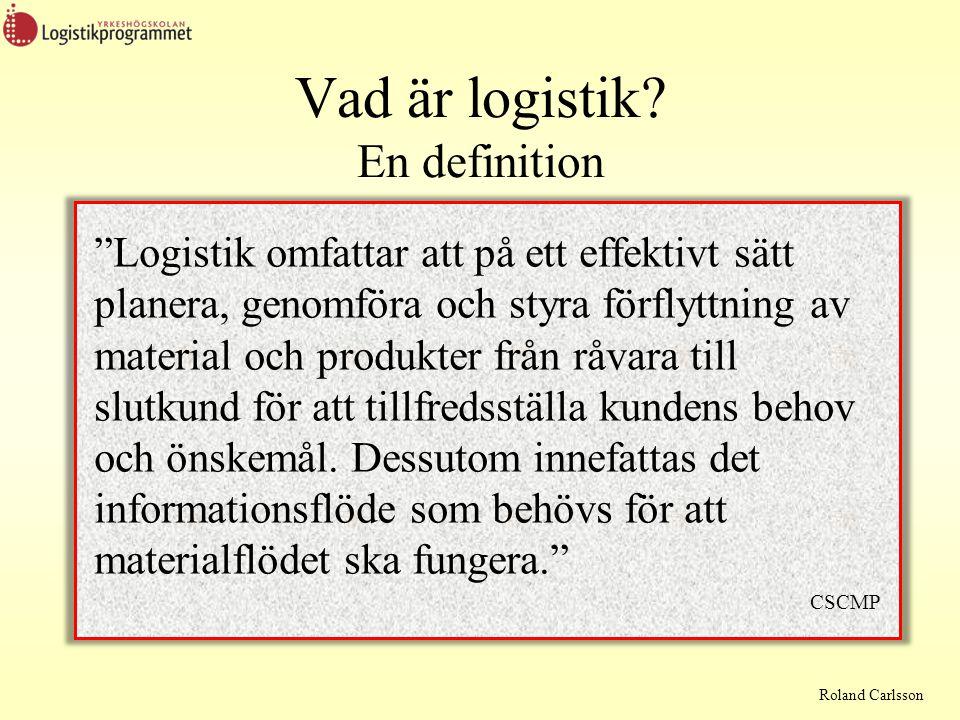 Vad är logistik En definition