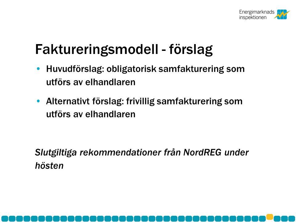 Faktureringsmodell - förslag