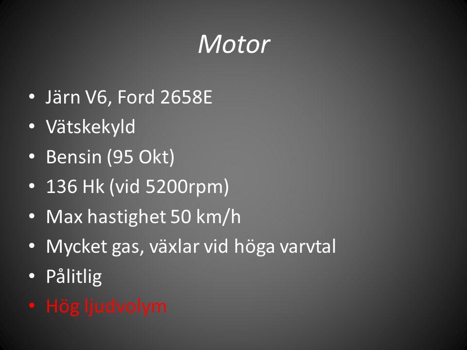 Motor Järn V6, Ford 2658E Vätskekyld Bensin (95 Okt)