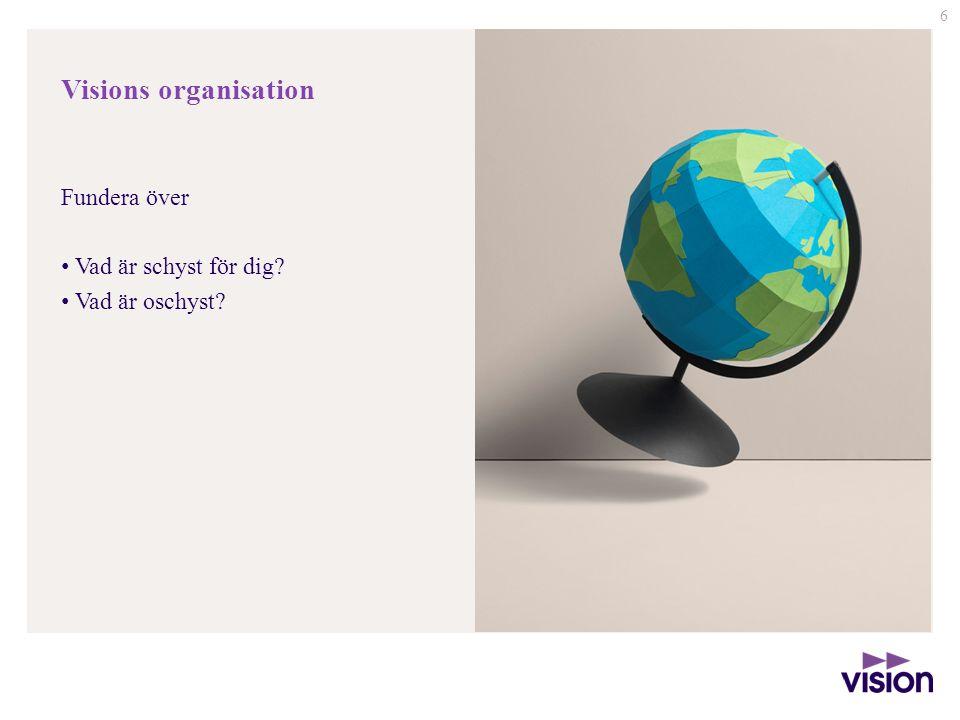 Visions organisation Fundera över Vad är schyst för dig