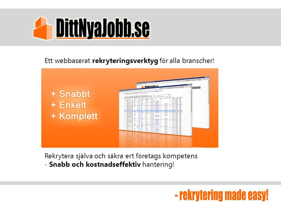 Ett webbaserat rekryteringsverktyg för alla branscher!