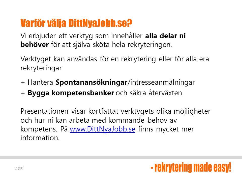 Varför välja DittNyaJobb.se