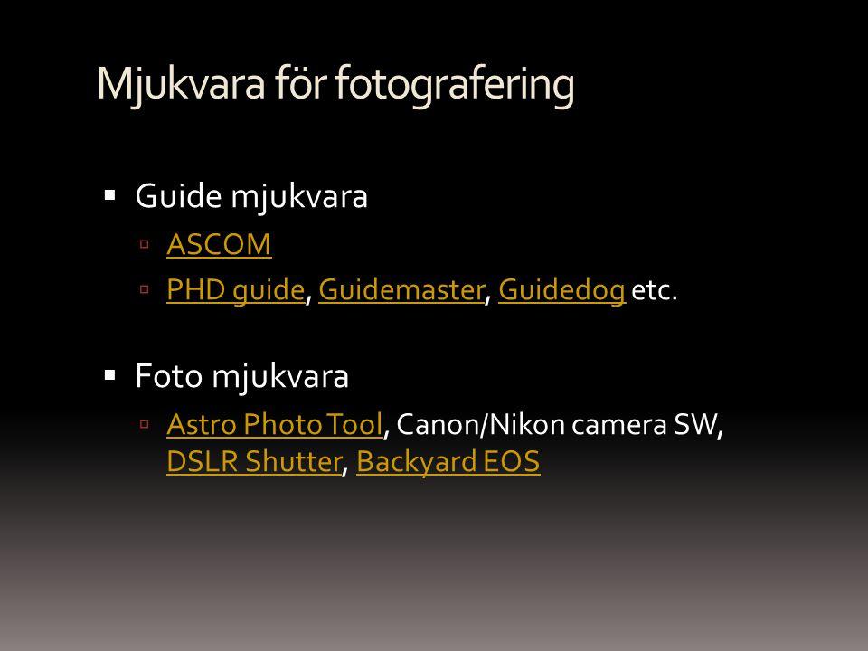 Mjukvara för fotografering