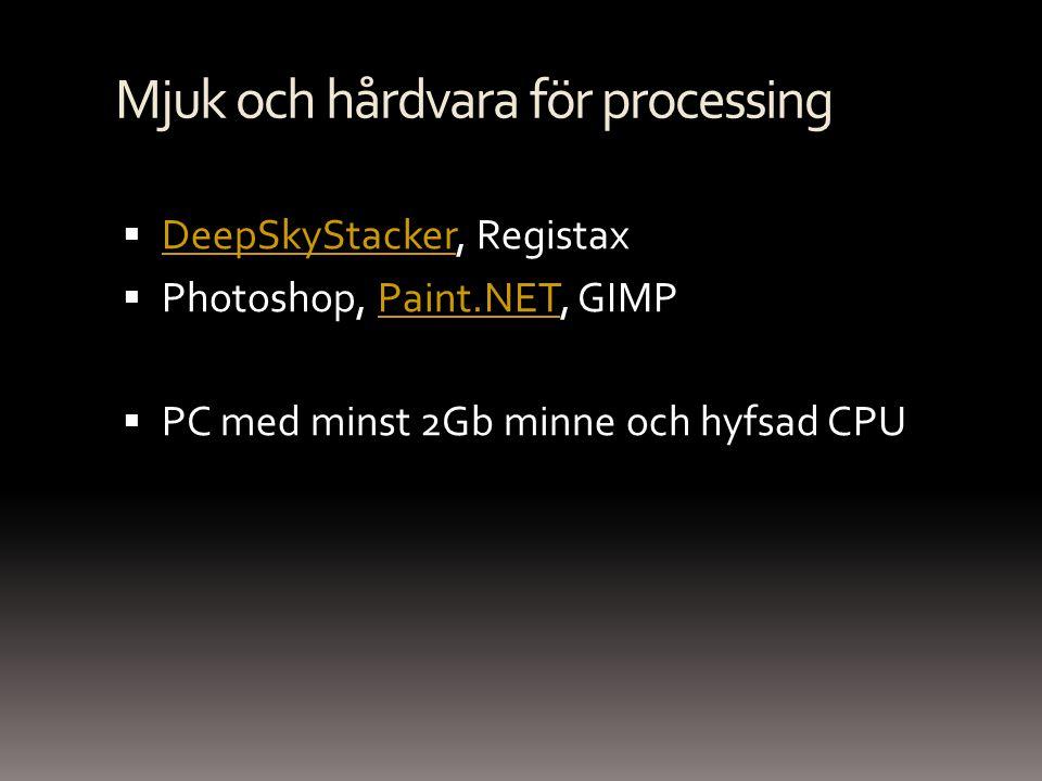 Mjuk och hårdvara för processing