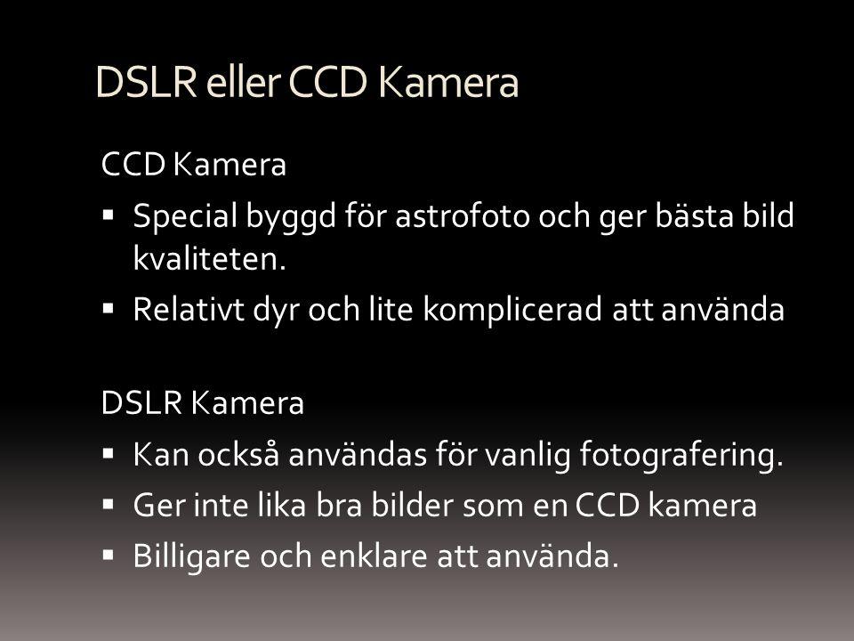 DSLR eller CCD Kamera CCD Kamera