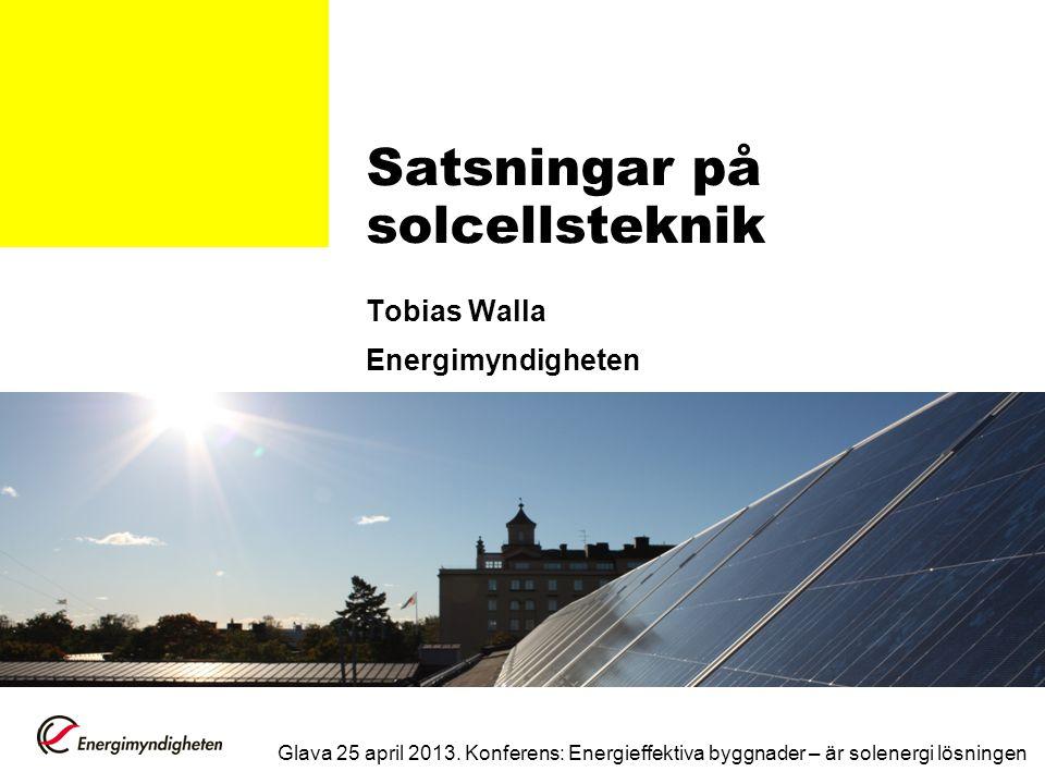 Satsningar på solcellsteknik