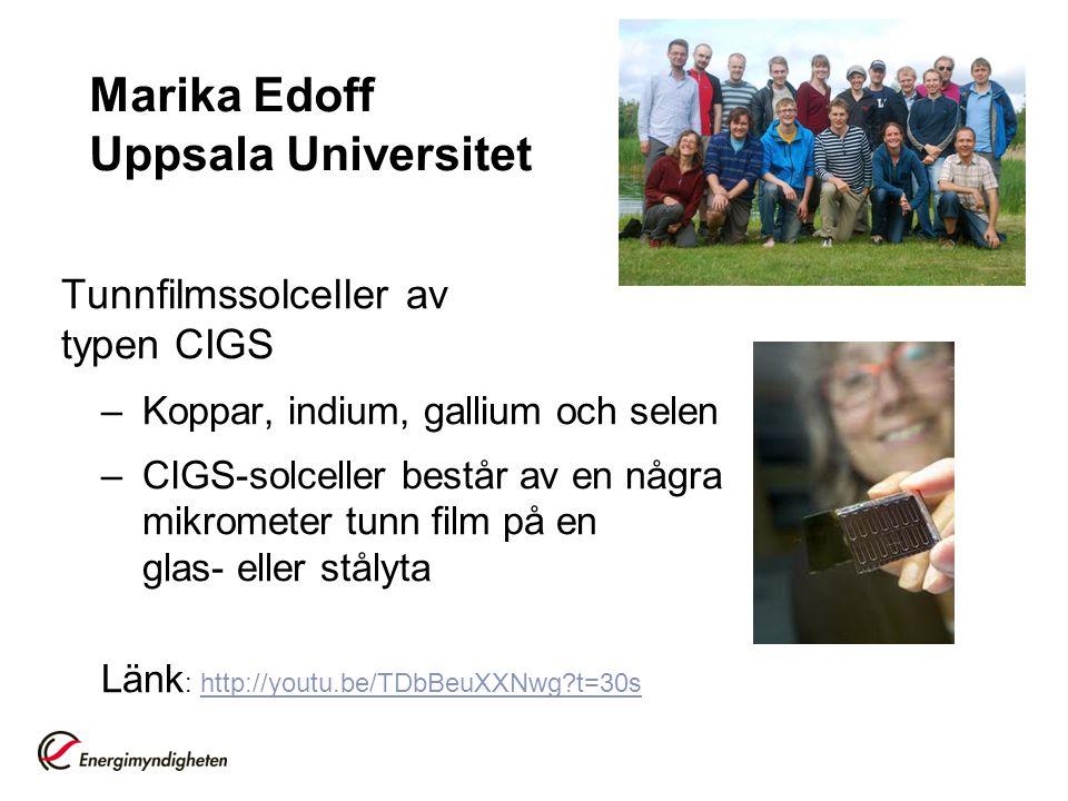 Marika Edoff Uppsala Universitet