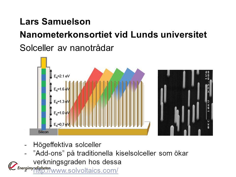 Lars Samuelson Nanometerkonsortiet vid Lunds universitet