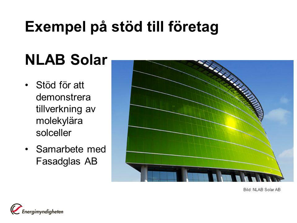Exempel på stöd till företag NLAB Solar