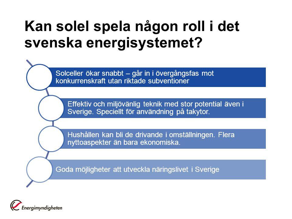 Kan solel spela någon roll i det svenska energisystemet