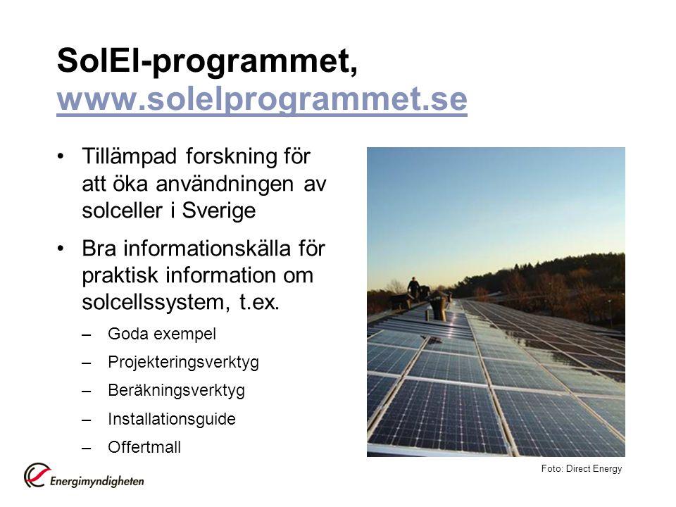 SolEl-programmet, www.solelprogrammet.se