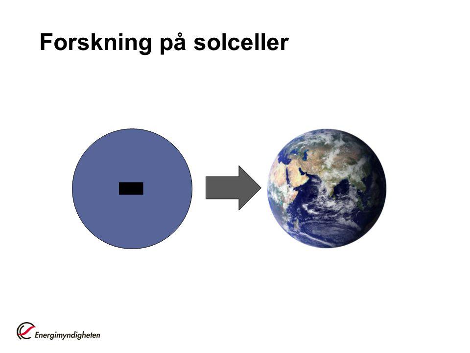 Forskning på solceller