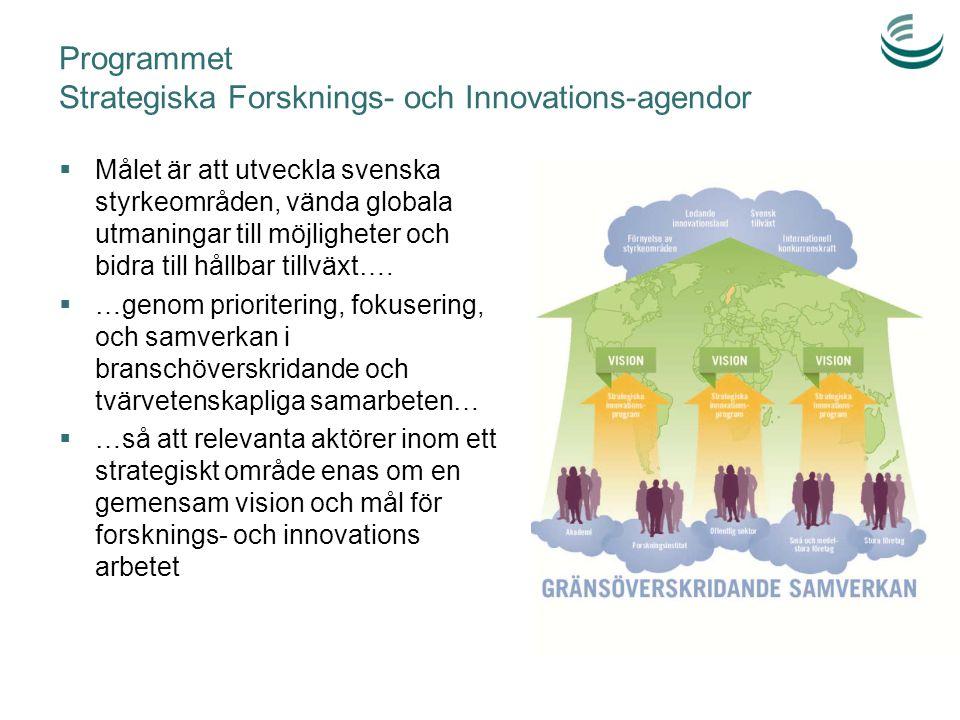 Programmet Strategiska Forsknings- och Innovations-agendor