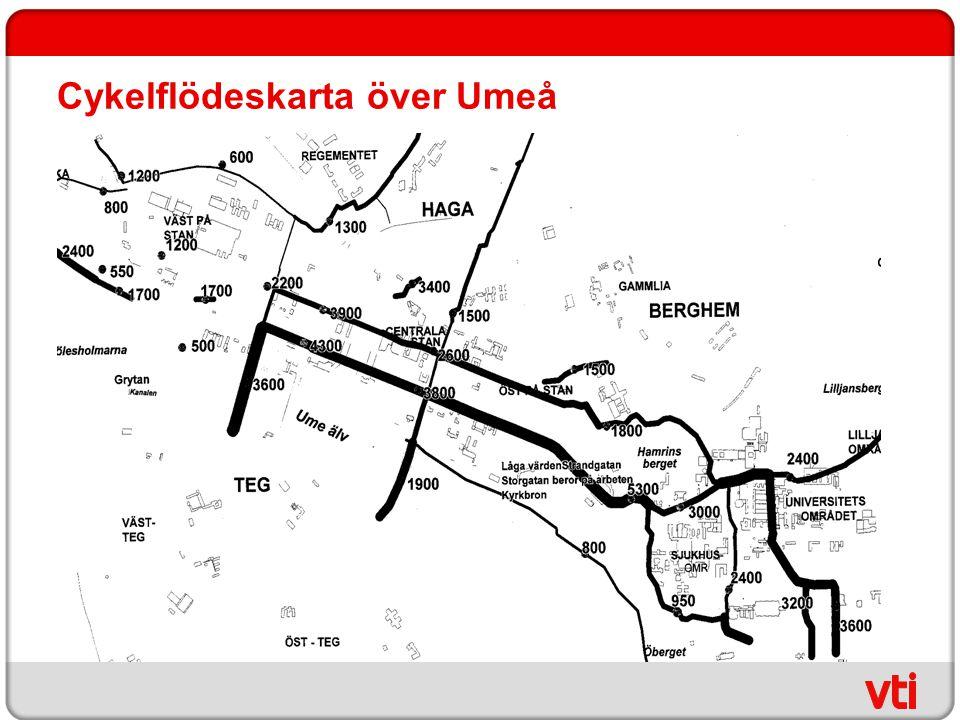 Cykelflödeskarta över Umeå