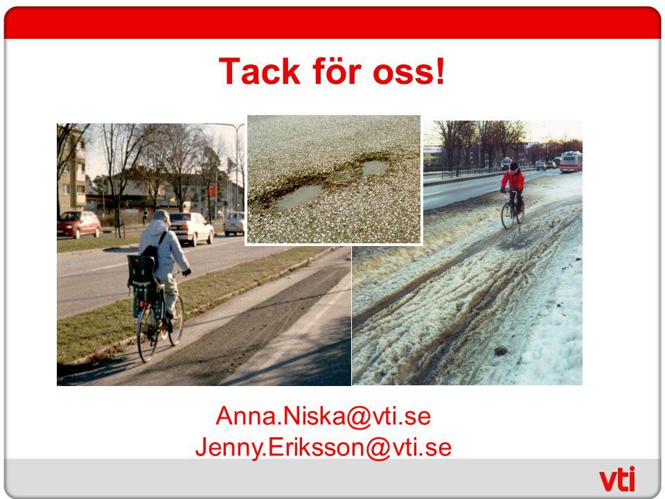Tack för oss! Anna.Niska@vti.se Jenny.Eriksson@vti.se