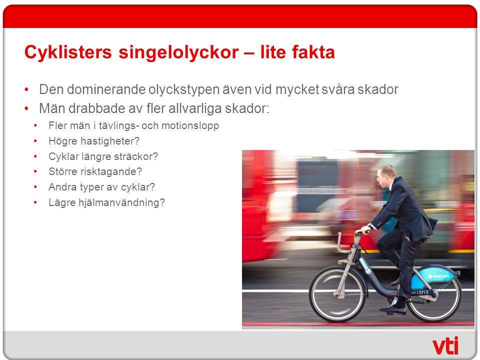 Cyklisters singelolyckor – lite fakta