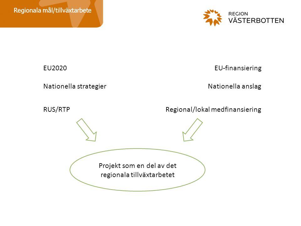 Projekt som en del av det regionala tillväxtarbetet