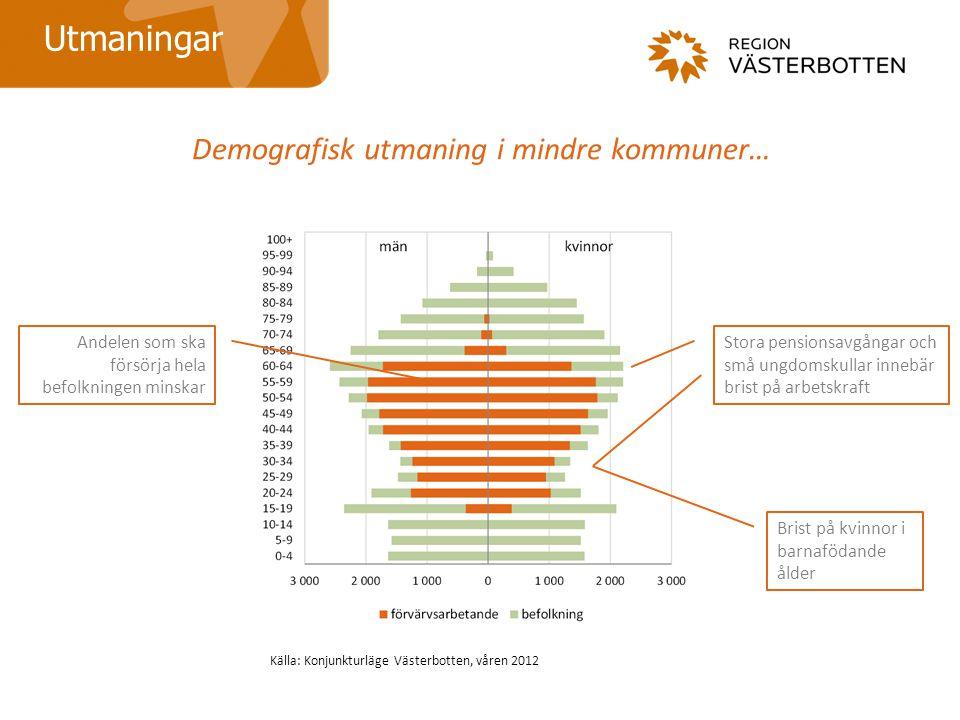 Demografisk utmaning i mindre kommuner…
