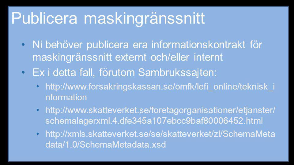 Publicera maskingränssnitt