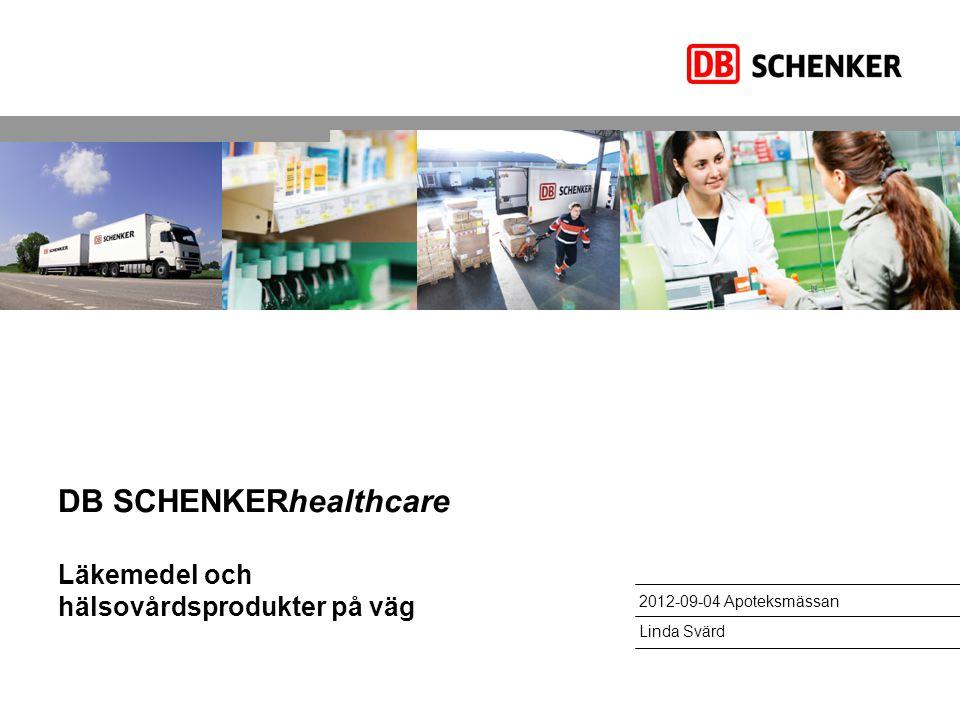 DB SCHENKERhealthcare Läkemedel och hälsovårdsprodukter på väg