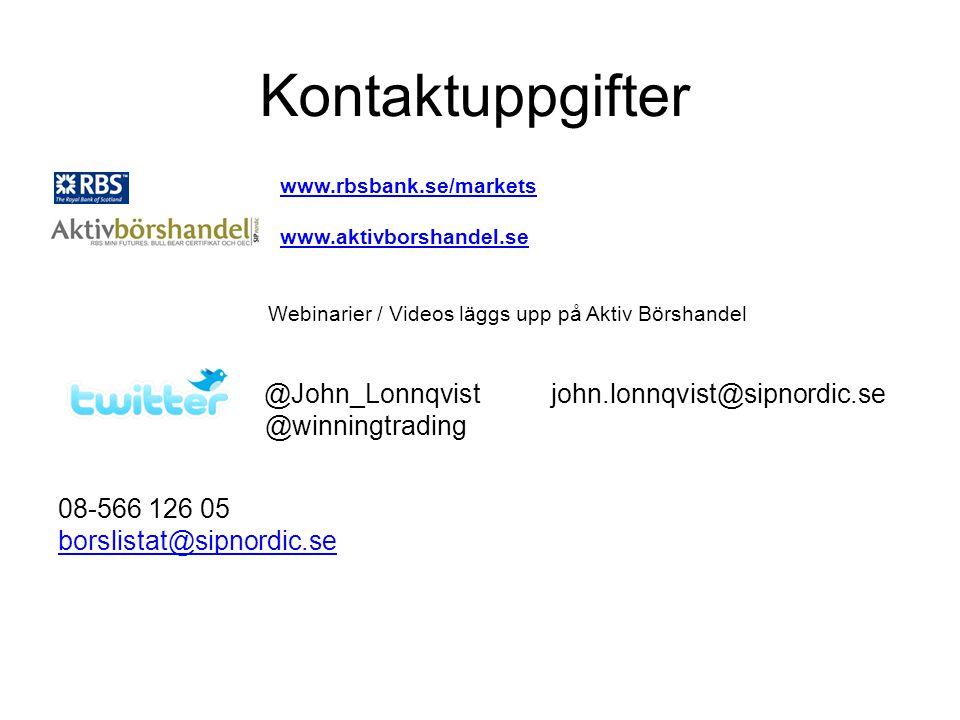 Kontaktuppgifter @John_Lonnqvist john.lonnqvist@sipnordic.se