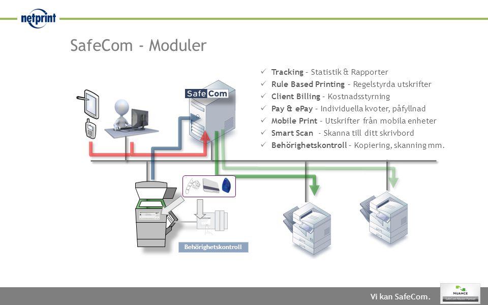 SafeCom - Moduler Tracking – Statistik & Rapporter