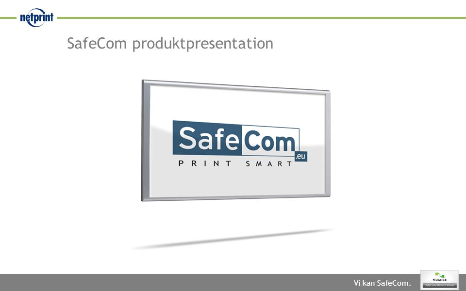 SafeCom produktpresentation