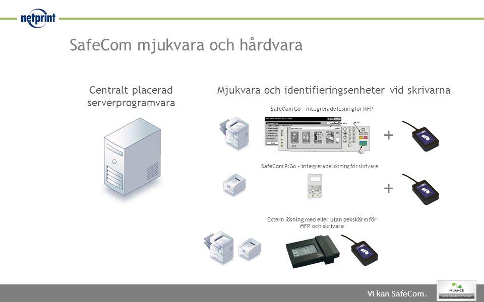 SafeCom mjukvara och hårdvara