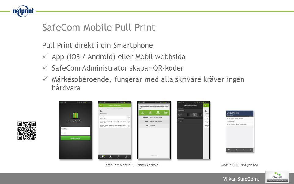 SafeCom Mobile Pull Print