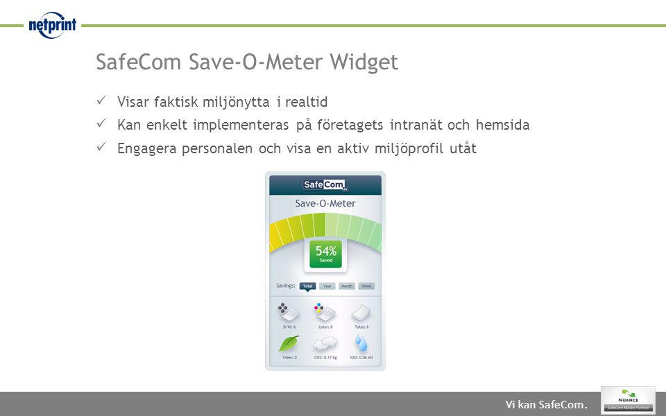SafeCom Save-O-Meter Widget