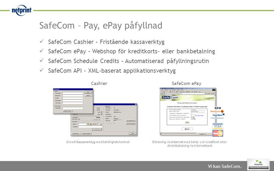 SafeCom – Pay, ePay påfyllnad